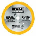DEWALT DW9153 6 1 2 Inch 90 Tooth Paneling and Vinyl Cutting Saw Blade with 5