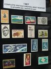SC1323 SC1337 1967 COMPLETE VINTAGE MINT YEAR SET OF 15 STAMPS