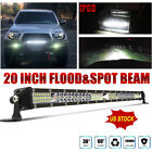 20inch 520W Led Light Bar Single Row Spot Flood Beam 4WD For Offroad Truck SUV