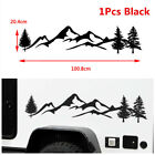 1Pc Black 100cm Tree Mountain Forest SUV Car Sticker Universal Decoration Decal
