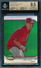 MIKE TROUT 2012 TOPPS FINEST GREEN REFRACTOR # 199 BGS 9.5 CARD #78 2ND YEAR!
