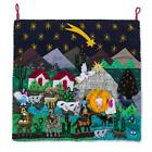 Appliqu Wall Hanging Embroidered Art Tapestry Christmas Star Nativity NOVICA