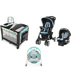 Baby Stroller with Car Seat  Infant Bouncer Nursery Playard Travel System Set