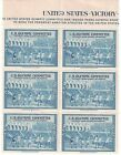 1948 US Olympic Committee Margin Block of 6 Mint NH Athelete Stamps w OG