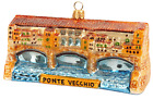 Ponte Vecchio Bridge Florence Italy Travel Glass Christmas Ornament 110164