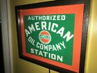 Amoco American OldLogo Oil Gas Service Station Garage Lighted Advertising Sign