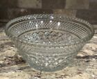 WEXFORD GLASS LARGE CRYSTAL FRUIT SALAD SERVING BOWL DIAMOND PATTERN UNUSED COND