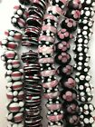 Assorted Lampwork Glass Rondell Beads Mixed WHOLESALE LOT 100
