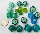 Lampwork Glass Beads Mixed Summer Blue and Green 20