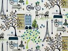 PARIS EIFFEL TOWER FRANCE CITY COTTON FABRIC WAVERLY INSPIRATIONS BY THE YARD