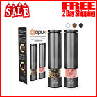 Electric Mill Grinder Salt  Pepper Stainless Steel Adjustable Battery Operated