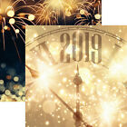 Reminisce HAPPY 2019 12x12 Scrapbooking 2pc Paper NEW YEARS EVE CELEBRATION