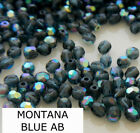 600 Pcs 10mm Czech Fire Polished Faceted Glass Beads MONTANA BLUE AB