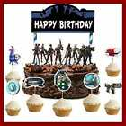 Gaming Cake Topper Set 24Pcs Cupcake Birthday Party Supplies Decoration Grocery