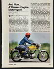 Hercules/DKW Wankel engine W2000 1974 original vintage Road Test Review