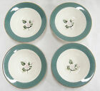 Century Service Emerald Border Pink Rose Lot of 4 Berry Bowls Homer Laughlin