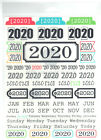 2020 YEAR OF MEMORIES 68pc CLEAR STICKER Sheet scrapbooking YEAR MONTH DAY