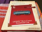 Hallmark Ornament 2002 Lionel Trains Blue Comet Passenger Car Light Glow NEW BOX