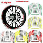 For Ducati Hypermotard Cool wheel stickers Stereo Rubber rim pasters