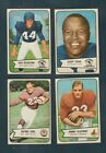 11 1954 BOWMAN FOOTBALL COMMONS LOT EXMT to mostly NM NM+ sharp cards !!