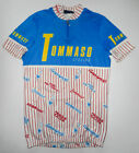 Vtg 80s TOMMASO 1 2 Zip Cycling Jersey ALL OVER PRINT Campagnolo ITALY Mens Lg 4