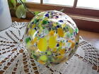 COLORFUL Hand Blown Glass Globe Decorative Art Glass Float Witches Sphere 55