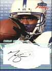 1999 Fleer Focus Fresh Ink Colts Football Card #14 Marvin Harrison AUTO