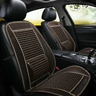 Car Seat Protector Suv Ice Silk Cushion Cool Pad Massage Wooden Beads Breathable