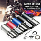 Scooter Short Performance Exhaust System GY6 50cc 150cc Chinese Scooter 4 Stroke