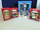 HALLMARK ORNAMENTS LOT OF 4,HOT WHEELS,WINNIE THE POOH,SNOWMAN',MISTLETOE MISS