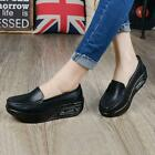 Nurse Shoes Women Platform Black Round Toe Athletic Sneakers Slip On Loafers