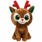 TY Beanie Boos - COMET the Reindeer (Solid Eye Color) (6 inch) - MWMTs Boo Toy