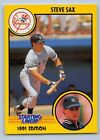 1991  STEVE SAX - Kenner Starting Lineup Card - LOS ANGELES DODGERS