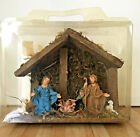 Vintage Italian Nativity Set Wood Creche 7 Figures Christmas Decor NEW