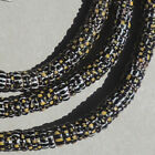 27 inch strand old antique venetian yellow jacket beads african trade 1771