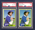 HAROLD BAINES 1981 TOPPS ROOKIE RC # 347 PSA 8 + PSA 7 CHICAGO WHITE SOX 2 CARDS