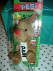 PEZ Plush Reindeer with Red Nose