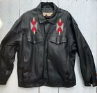 Vintage High Noon Mens XL Black with Native American Embroidery Oklahoma Seal