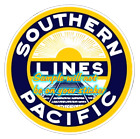 Southern Pacific Railroad Contour Cut Vinyl Decals Sign Stickers Trains Railway