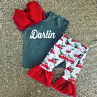USA My First Infant Toddler Baby Girls darlin Tops Flared Pants Outfit Clothes