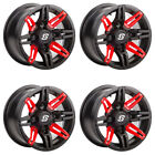 4 ATV/UTV Wheels Set 14in Sedona Rukus Red 4/110 5+2 H700