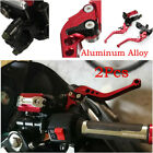 2Pc Brake Clutch Master Cylinder Reservoir Levers Fit Motorcycle 7/8'' Handlebar