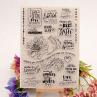 happy birthday transparent clear silicone stamp for diy scrapbooking photodecEC