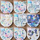 60 Sheets Pack Cute Phone Decor Galaxy Shape Stickers Paper Sticker Diary Label