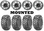 Kit 4 Maxxis Bighorn 2.0 Tires 28x9-14/28x11-14 on Quadboss Stryker Gray IRS