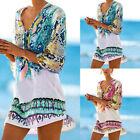 Womens Sheer Bikini Cover Up Swimwear Swim Bathing Suit Summer MINI Beach Dress