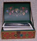 Desk Top Note Pad Harry Potter Hogwarts Quidditch Chest Hidey Hole NEW gift box