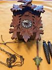 OLD WOODEN CUCKOO CLOCK, NEEDS WORK? FREE SHIPPING