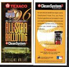 1996 TEXACO BASEBALL ALL STAR GAME BALLOT Veterans Stadium PHILLIES Unpunched