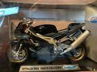 Aprilia RSV Mille 1000R Factory Motorcycle 1/18 1000 R Black Welly